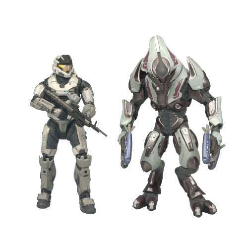 68be86ede406c868ce824ef9d42460e4 McFarlane Toys Halo Reach Series 1 Spartan Mark V [B] (Male) & Elite Ultra 2 Pack
