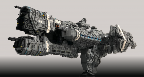 LEGO Halo UNSC Katara by Steve Witt 1 1024x550 1 500x269 LEGO Halo fan spends 5 years designing & building 7 foot UNSC heavy frigate from 25,000 bricks